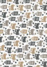 1db-os színes,mintás textil pelenka - bézs/szürke mozdony