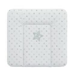 Puha pelenkázó lap 75*72 cm - szürke csillagok